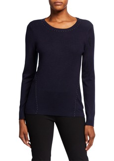 DKNY Studded Long Sleeve Pullover