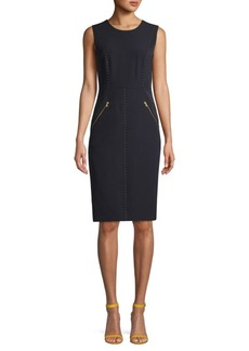 DKNY Studded Sheath Dress