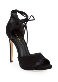 DKNY Suri Suede Ankle-Strap High-Heel Sandals