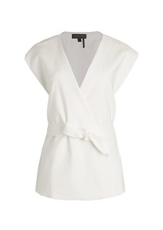 DKNY Surplice Belted Top