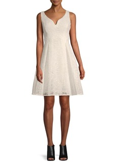 DKNY Sweetheart Embroidered Fit-&-Flare Dress