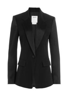DKNY Tailored Blazer with Satin