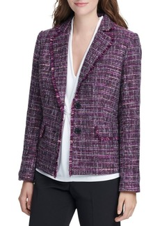 DKNY Tailored Tweed Blazer