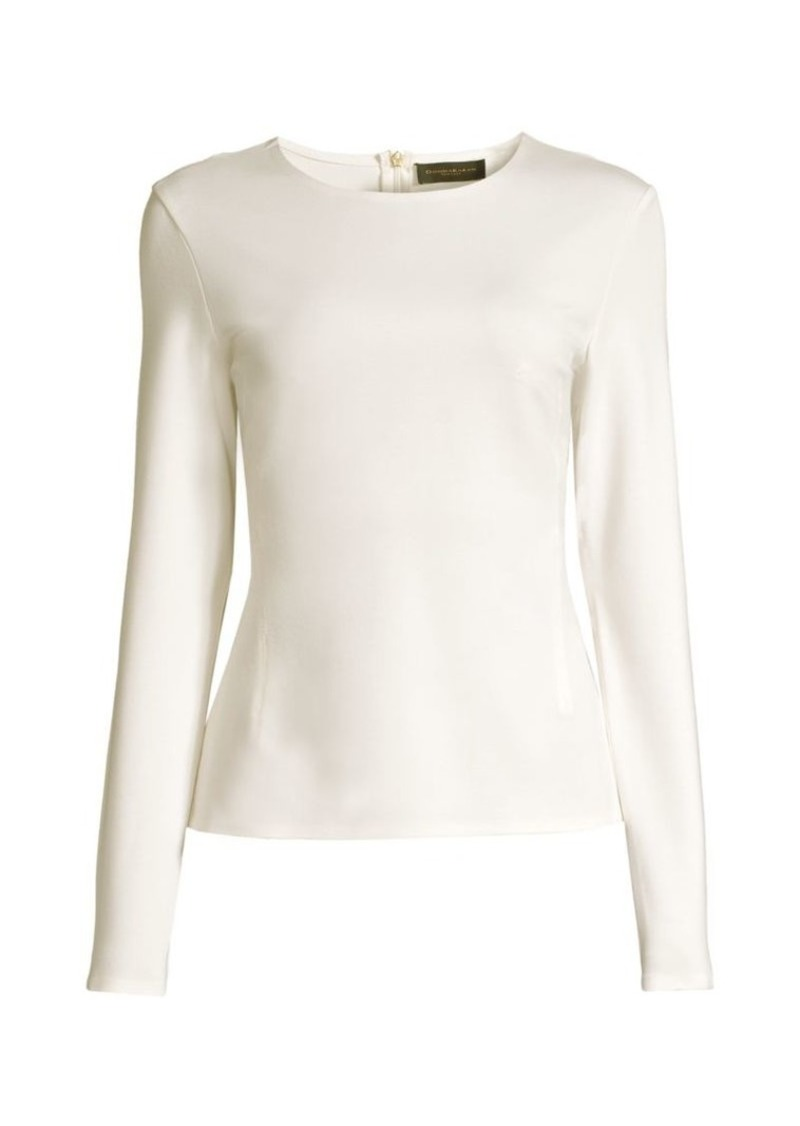 DKNY Tech Crepe Modern Top