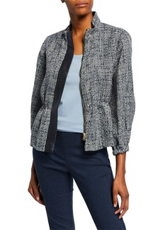 DKNY Textured 3/4-Sleeve Jacket