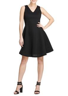 DKNY Textured Fit-&-Flare Dress