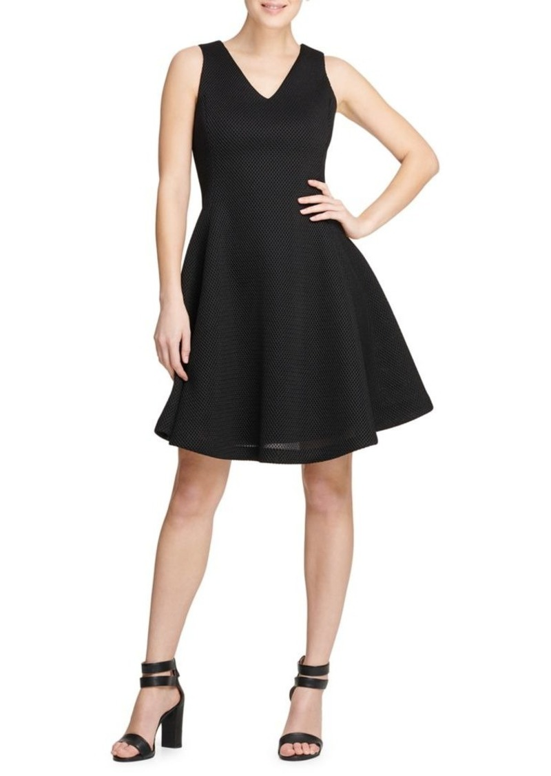 DKNY Textured Fit-&-Flare Dress