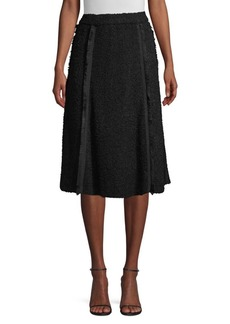 DKNY Textured Pleat A-Line Skirt