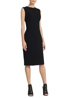 DKNY Textured Sleeveless Sheath Dress