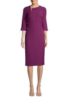 DKNY Three-Quarter Sleeve Sheath Dress