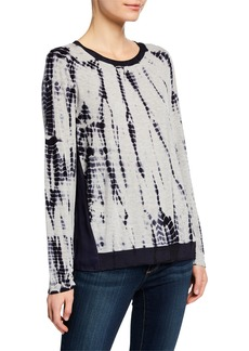 DKNY Tie-Dye Crewneck Long-Sleeve Combo Top