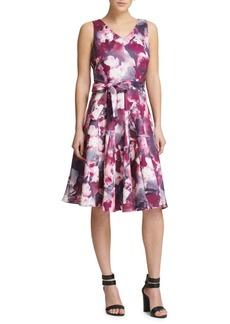 DKNY Tie-Dye Fit-&-Flare Dress