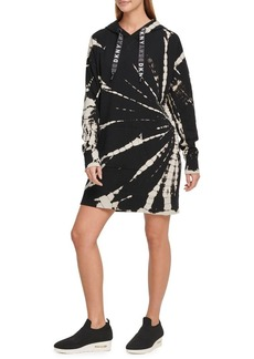 DKNY Tie-Dye Hooded Sneaker Dress