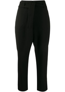 DKNY tied waist trousers