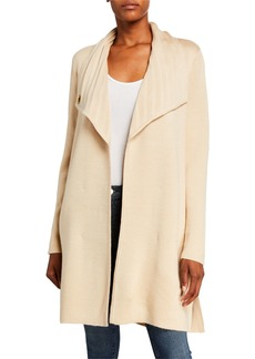 DKNY Toggle Wool-Blend Sweater Coat