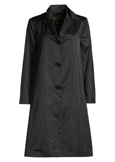 DKNY Trapeze Sateen Trench