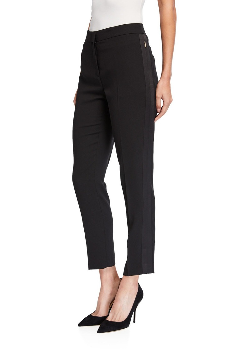 DKNY Trapunto Trimmed Ankle Pants