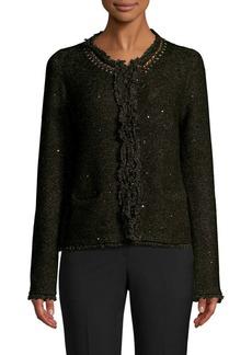 DKNY Tweed Cardigan