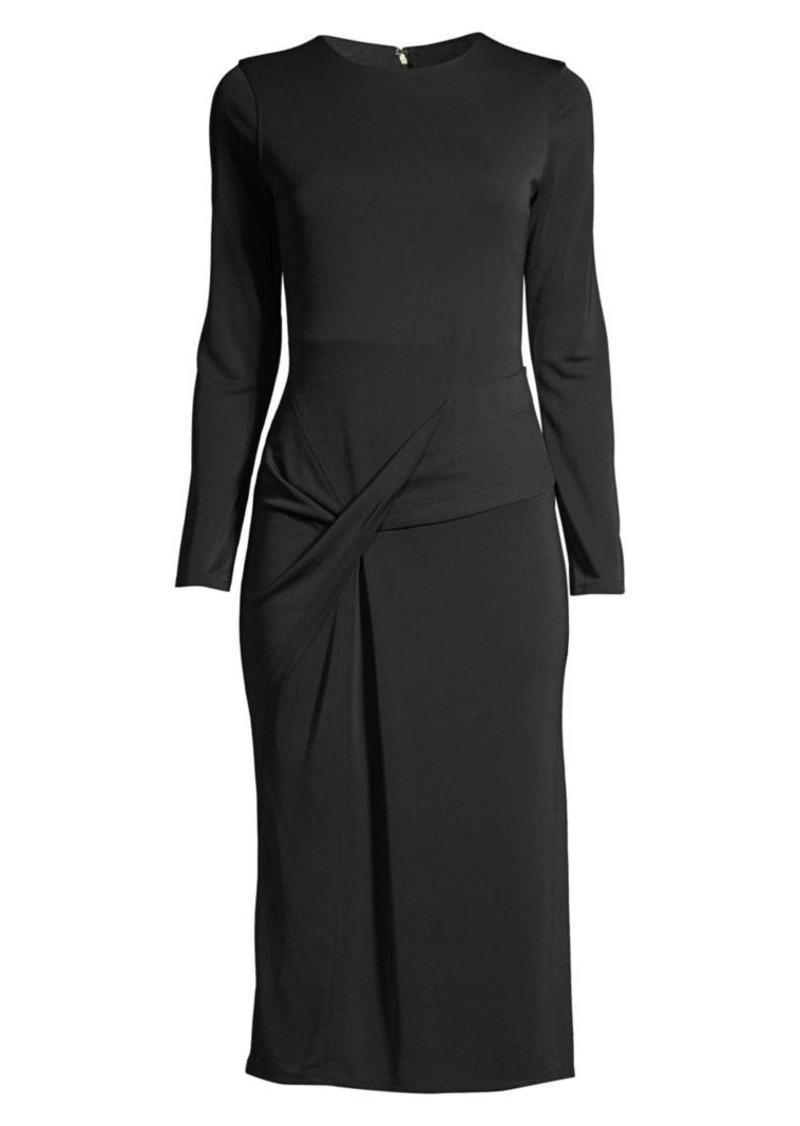 DKNY Twist-Front Jersey Knit Dress