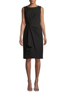 DKNY Twist-Front Knee-Length Dress