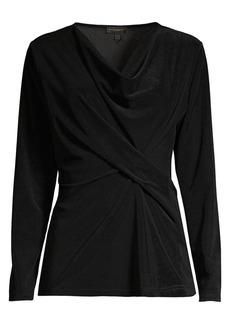 DKNY Twist Front Long Sleeve Top