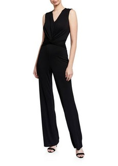 DKNY Twist-Front Sleeveless Jumpsuit