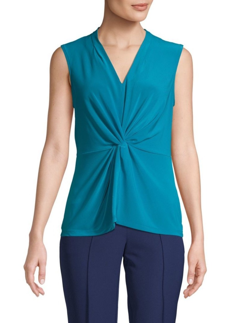 DKNY Twist-Front V-Neck Top