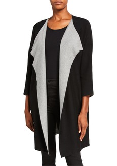 DKNY Two-Tone Cardigan Coat