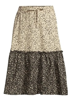 DKNY Two-Tone Printed Skirt