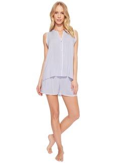 DKNY Viscose Sleeveless Top & Boxer Pajama Set
