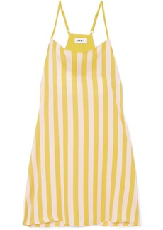 DKNY Walk the Line striped satin chemise