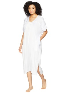 DKNY Washed Satin Caftan