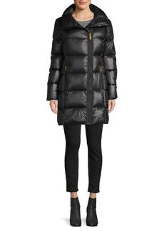 DKNY Waxed Asymmetrical-Zip Down Jacket