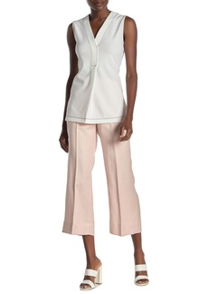 DKNY Wide Leg Crop Linen Blend Pants