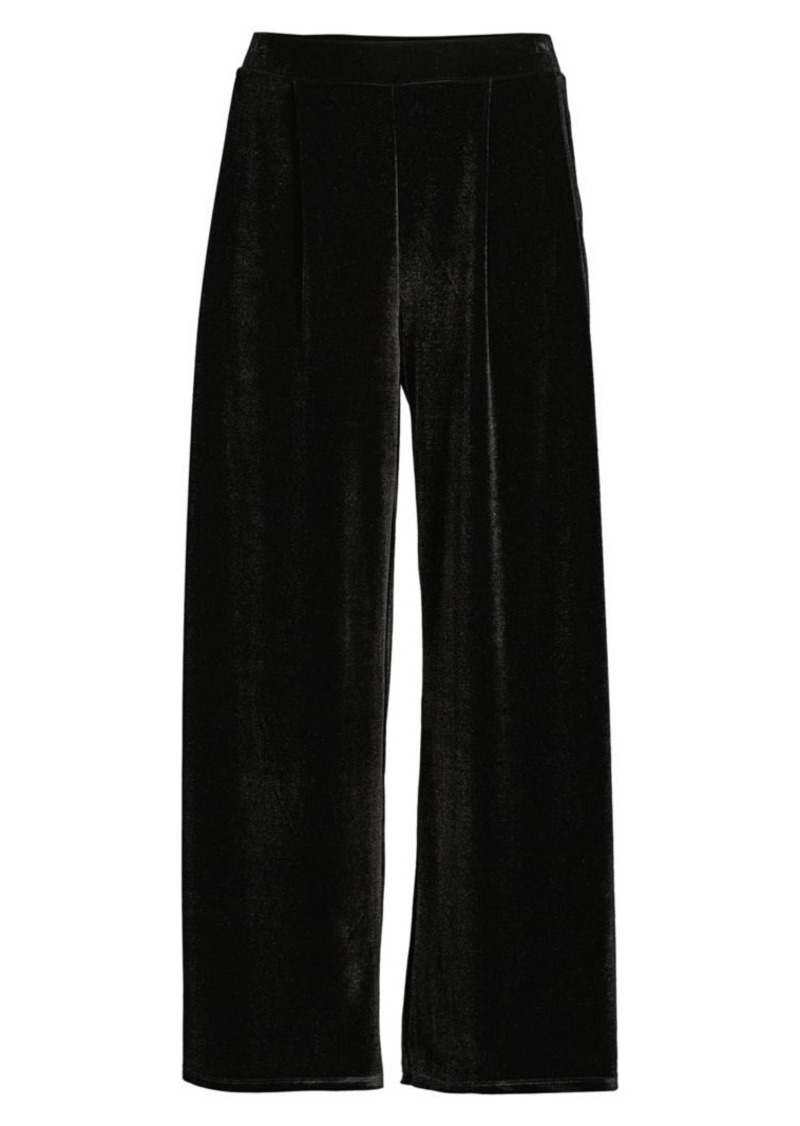 DKNY Wide Leg Velvet Trousers