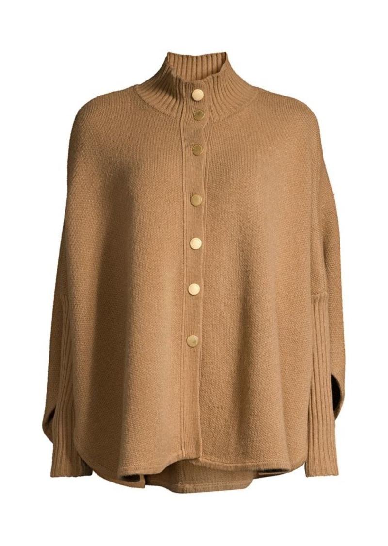 DKNY Wool-Blend Poncho Sweater