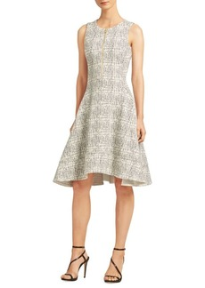 DKNY Zip-Front Fit-&-Flare Dress