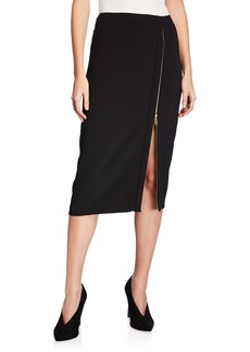 DKNY Zip-Front Pencil Skirt