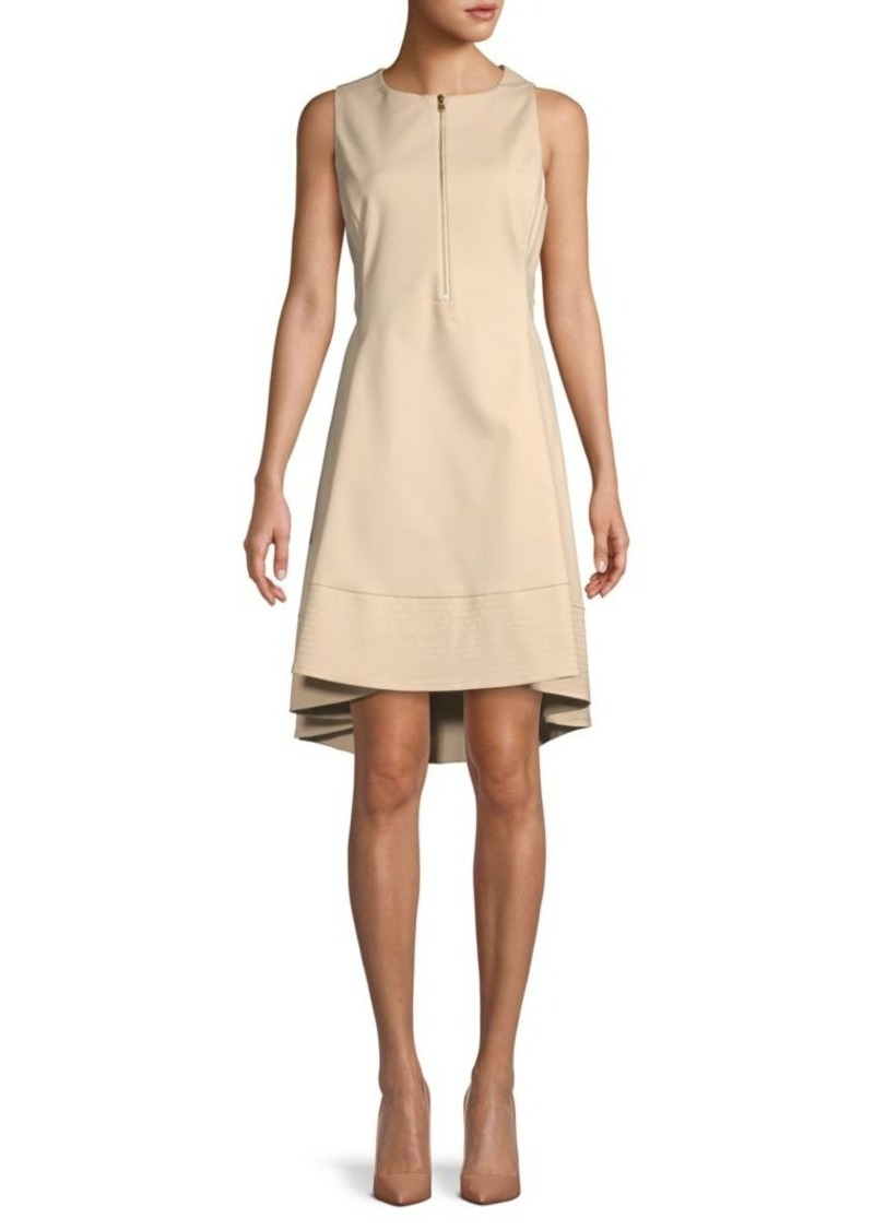 DKNY Zipper Fit-&-Flare Dress