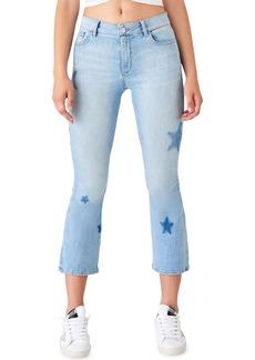 DL 1961 Bridget Crop Skinny Boot-Cut Jeans with Stars