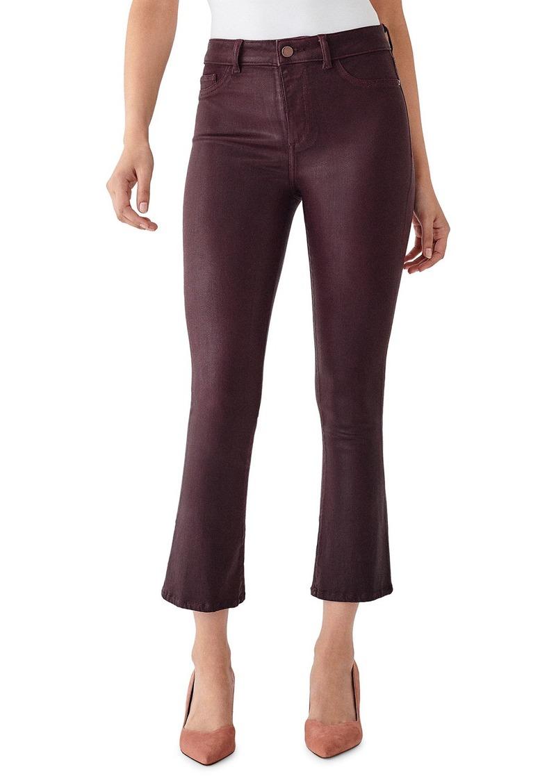 DL 1961 Bridget Cropped High-Rise Boot-Cut Jeans