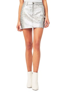DL 1961 Brit Metallic Denim Skirt