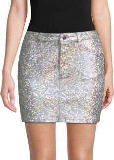DL 1961 Brit Metallic Pencil Skirt