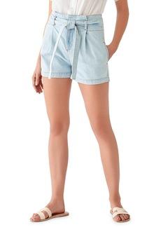 DL 1961 Camile Belted High-Waist Shorts