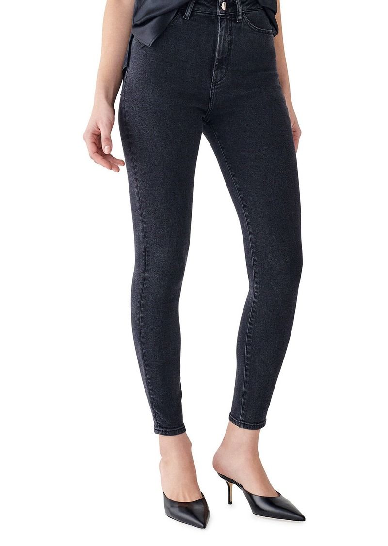 DL 1961 Chrissy Ankle Ultra High Rise Ankle Skinny Jeans