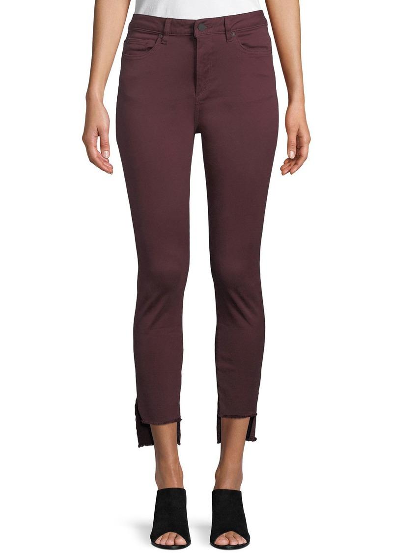 DL 1961 Chrissy Step-Hem Skinny Jeans
