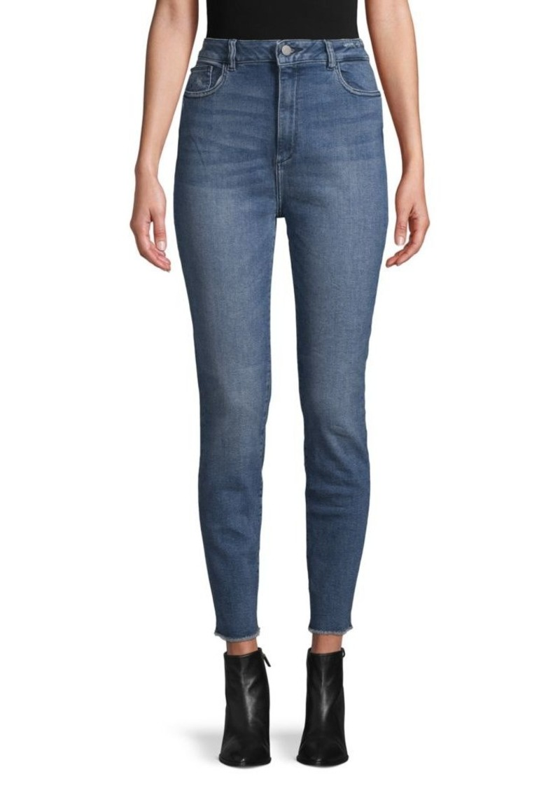 DL 1961 Chrissy Ultra High-Rise Crop Jeans
