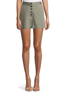 DL 1961 Cortlandt Alley Button-Front High-Waist Shorts