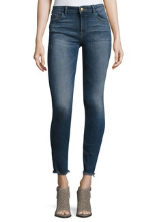 DL 1961 Florence Instasculpt Cropped Skinny Jeans with Raw Hem