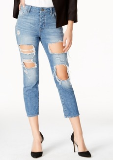 Dl 1961 Goldie Shredded Wash Ripped Boyfriend Jeans